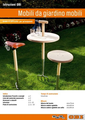 Mobili da giardino mobili