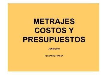 METRAJES COSTOS Y PRESUPUESTOS - sisman
