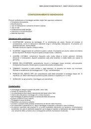 CONFEZIONAMENTO BENDAGGIO - LESIONI CUTANEE CRONICHE
