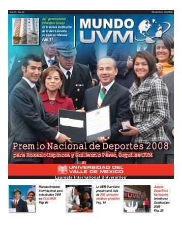 Premio Nacional de Deportes 2008 - Universidad del Valle México