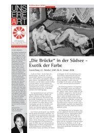 """""""Die Brücke"""" in der Südsee - Exotik der Farbe - Stiftung ..."""