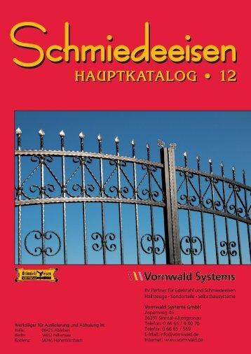 Schmiedeeisen Hauptkatalog [pdf] - Vornwald Systems GmbH