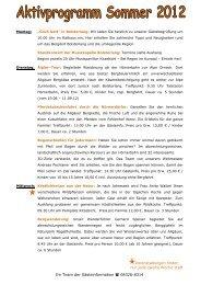 Aktivprogramm Sommer 2012 - Bolsterlang