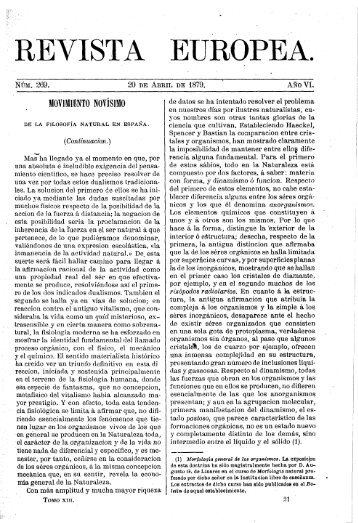 REVISTA EUROPEA. - Ateneo de Madrid
