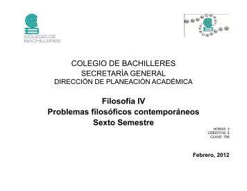 Filosofía IV - Colegio de Bachilleres
