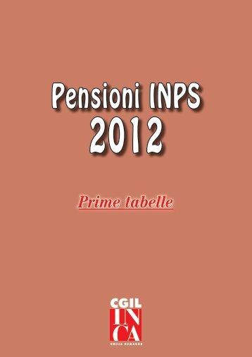 Pensioni INPS 2012 - CGIL Modena