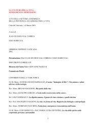 1 la cultura della vita - Pontifical Academy for Life