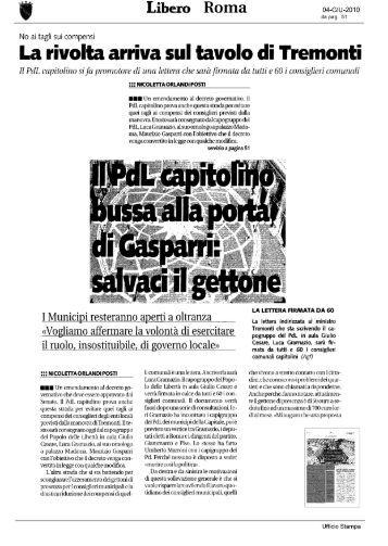 Libero 4 giugno 2010 - Comune di Roma