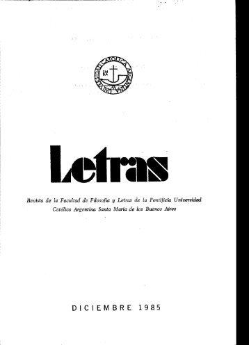 Letras N° 14 - Biblioteca Digital - Universidad Católica Argentina