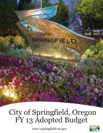 FY13 Budget - City of Springfield