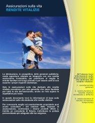 Assicurazioni sulla vita RENDITE VITALIZIE - Ania