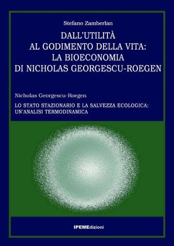 Dall'utilità al godimento della vita, la Bioeconomia di Georgescu ...