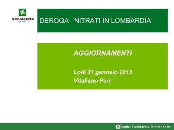 Aggiornamenti 31 gennaio 2013 Vitaliano Peri - Ersaf