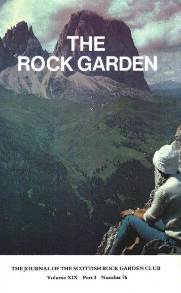 Number 76 - the Scottish Rock Garden Club