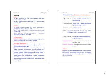 1 2 QUÍMICA ORGÂNICA ⇒ Química dos compostos de ... - UTAD