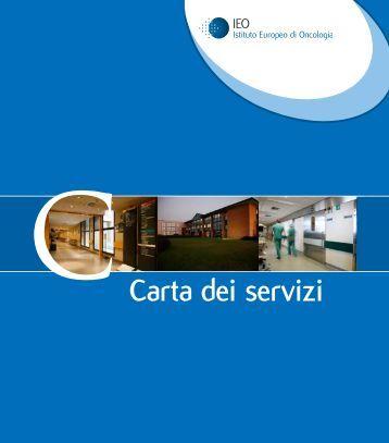 Carta dei Servizi.pdf - Istituto Europeo di Oncologia