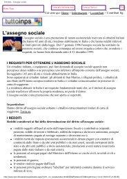 TuttoInps - L'assegno sociale - Istituto Marco Belli