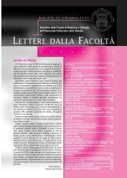 LETTERE 2006 12.pdf - Facoltà di Medicina e Chirurgia - Università ...