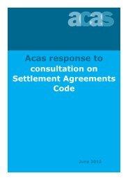 Acas response to