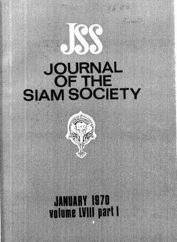 The Journal of the Siam Society Vol. LVIII, Part 1-2, 1970 - Khamkoo