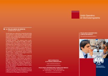 UCBM_Otorinolaringoiatria_web.pdf - Policlinico Universitario ...