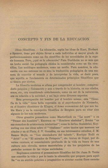 CONCEPTO Y FIN DE LA EDUCACIÓN - Repositorio Institucional ...