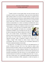 Entrevista a Fernando Savater Un lector ... - Revista Terral
