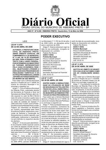 Diário Oficial - Ribeirão Preto - Governo do Estado de São Paulo