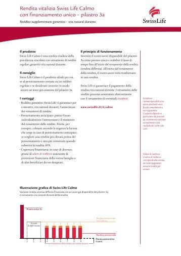 Rendita vitalizia Swiss Life Calmo con finanziamento unico ...