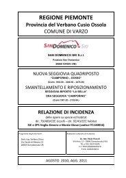 relazione di incidenza - Valutazione Ambientale - Regione Piemonte
