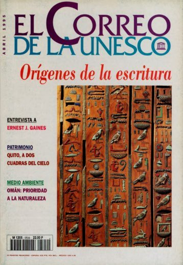 Orígenes de la escritura; The UNESCO courier ... - unesdoc - Unesco