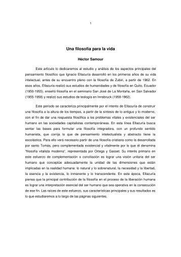 """Una filosofía para la vida - Universidad Centroamericana """"José ..."""