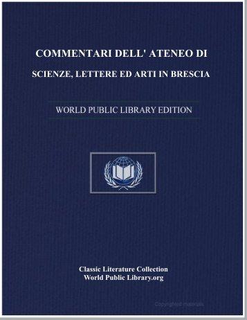 commentari dell' ateneo di scienze, lettere ed arti in brescia