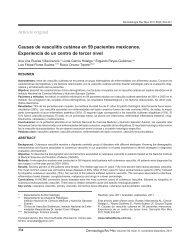 Causas de vasculitis cutánea en 59 pacientes mexicanos