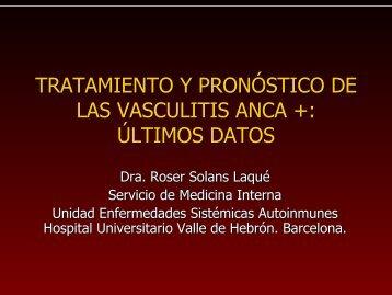 TRATAMIENTO Y PRONÓSTICO DE LAS VASCULITIS ANCA + ...