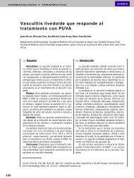 Vasculitis livedoide que responde al tratamiento con PUVA