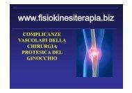 complicanze vascolari della chirurgia protesica del ginocchio