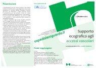 Supporto ecografico agli accessi vascolari