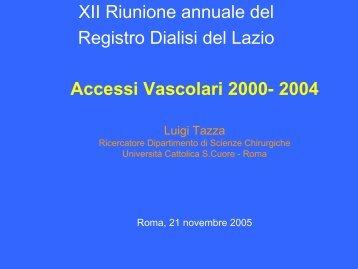 Gli accessi vascolari nel Lazio: i dati del Registro