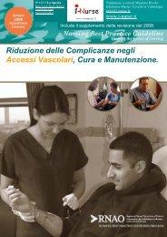 Gestione e Mantenimento degli Accessi Vascolari RNAO - I-Nurse.it