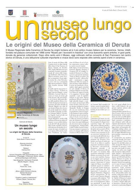 Museo Della Ceramica Di Deruta.Museo Della Ceramica Di Deruta Centro Studi E Formazione