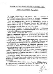 CV dr Talarico - Ospedale Civico di Palermo