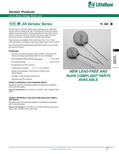 100 pieces Varistors 220V 25A CLAMP