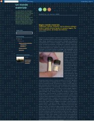Un mondo materiale - Grado Zero Espace Srl