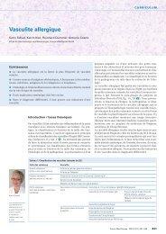 Vasculite allergique - Swiss Medical Forum