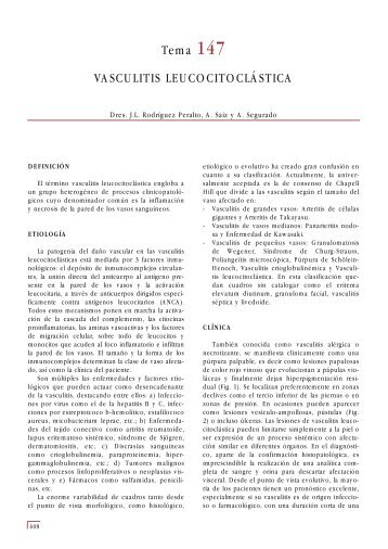 Tema 147 VASCULITIS LEUCOCITOCLÁSTICA - e-dermatosis.com