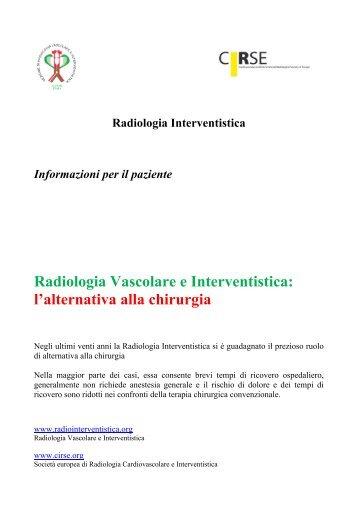 Informazioni per il paziente CIRSE - Radiologia vascolare e ...
