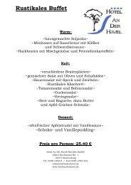 Preis pro Person - Hotel an der Havel