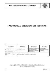 PROTOCOLLO DELL'IGIENE DEL NEONATO - Ospedale Galliera