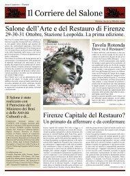 Il Corriere del Salone - Salone dell'Arte e del Restauro di Firenze